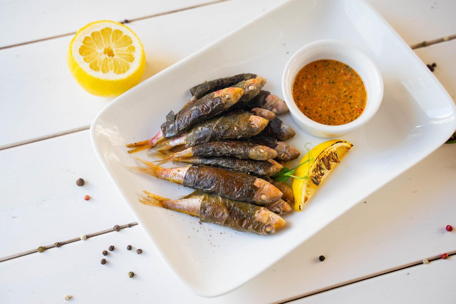 Рыбное блюдо из меню ресторана «Дилижанс»